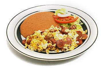 Desayunos Huevos con salchicha