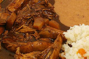 comidas Pollo en mole
